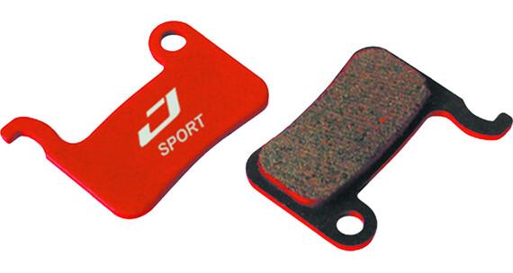 Jagwire Disc Sport Semi-Metall Bromsbelägg För XTR/Saint/Deore/XT/SLX/LX/Hone/Alfine/Non grå/röd